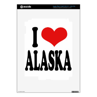 I Love Alaska Decal For iPad 3