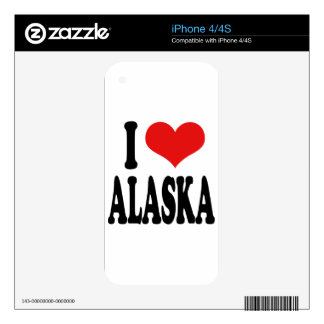 I Love Alaska Decal For iPhone 4S