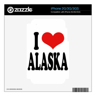 I Love Alaska Decal For The iPhone 3