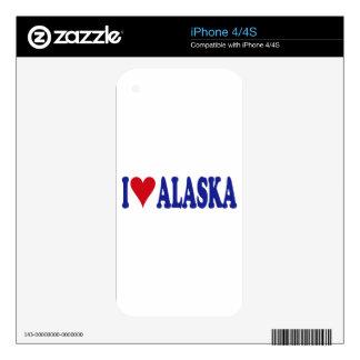 I Love Alaska Decals For iPhone 4