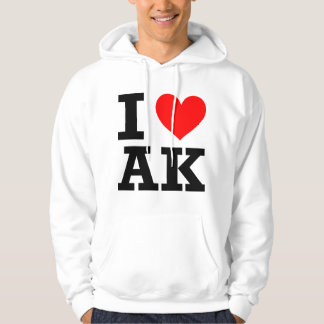 I Love Alaska Design Hoodie