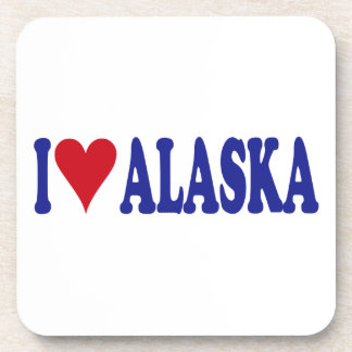 I Love Alaska Drink Coasters