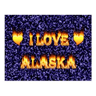 I love alaska fire and flames postcard