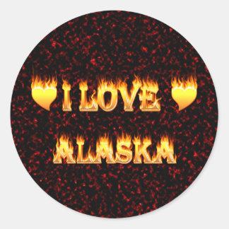 I love alaska fire and flames stickers