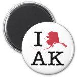 I Love Alaska Fridge Magnet