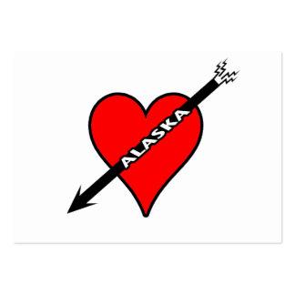 I Love Alaska Heart Business Card