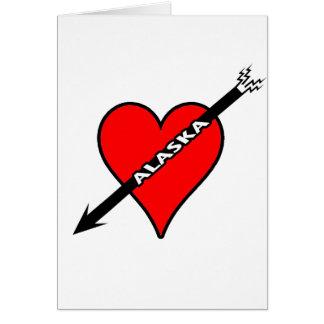 I Love Alaska Heart Card