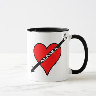 I Love Alaska Heart Mug