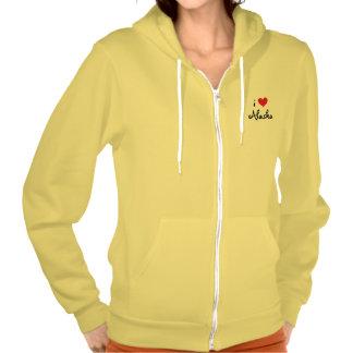I Love Alaska Hooded Pullover