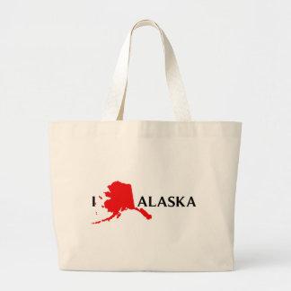I Love Alaska - I Love AK Tote Bag