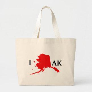 I Love Alaska - I Love AK Tote Bags