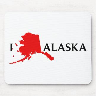 I Love Alaska - I Love AK Mouse Pad