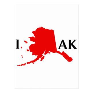 I Love Alaska - I Love AK Postcard