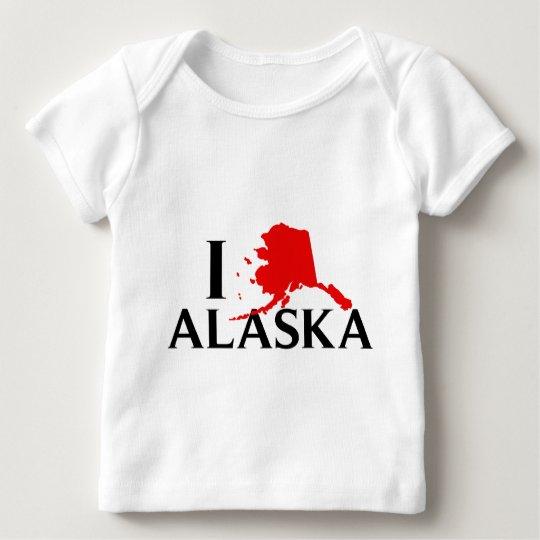 I Love Alaska - I Love AK State Baby T-Shirt