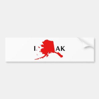 I Love Alaska - I Love AK State Bumper Stickers