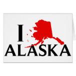 I Love Alaska - I Love AK State Card
