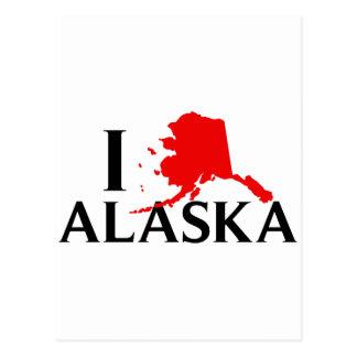 I Love Alaska - I Love AK State Postcard