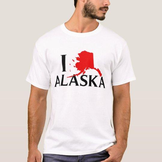I Love Alaska - I Love AK State T-Shirt