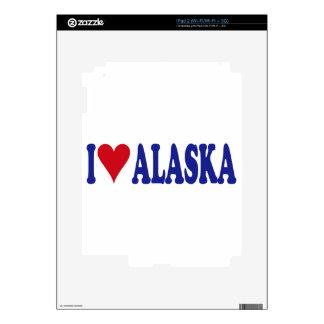 I Love Alaska iPad 2 Decals