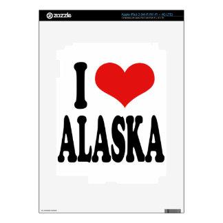 I Love Alaska iPad 3 Decals