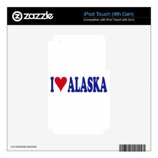 I Love Alaska iPod Touch 4G Skins