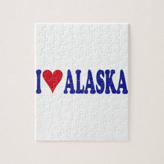 I Love Alaska Jigsaw Puzzle