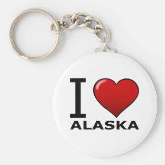 I LOVE ALASKA KEYCHAIN