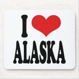 I Love Alaska Mouse Pad