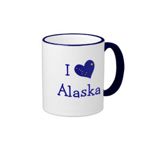 I Love Alaska Mugs
