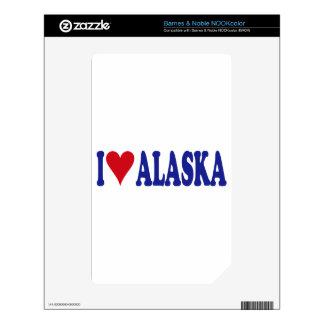 I Love Alaska NOOK Color Skins