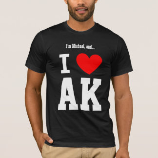 I Love Alaska or Any City or State Red Heart T-Shirt