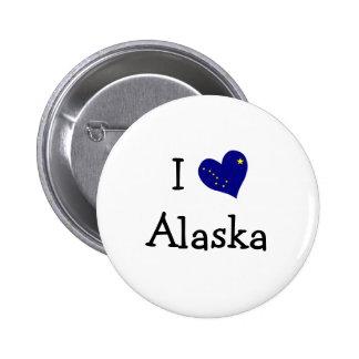 I Love Alaska Pinback Button