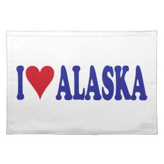 I Love Alaska Place Mats