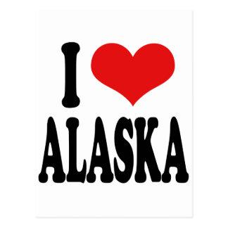 I Love Alaska Postcard