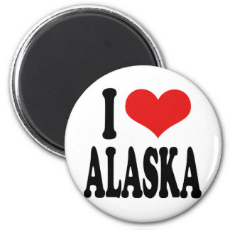 I Love Alaska Refrigerator Magnets