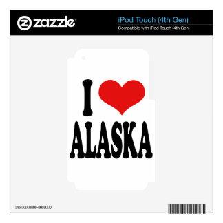I Love Alaska Skins For iPod Touch 4G