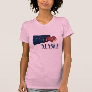 I Love Alaska State Flag T-Shirt