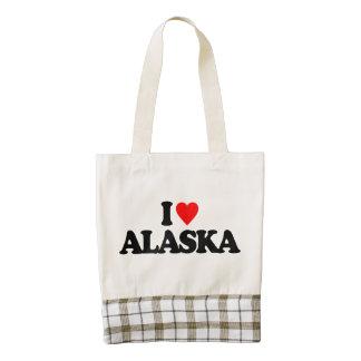 I LOVE ALASKA ZAZZLE HEART TOTE BAG
