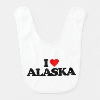 I LOVE ALASKA BABY BIBS