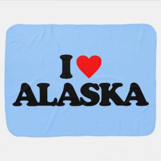 I LOVE ALASKA RECEIVING BLANKETS