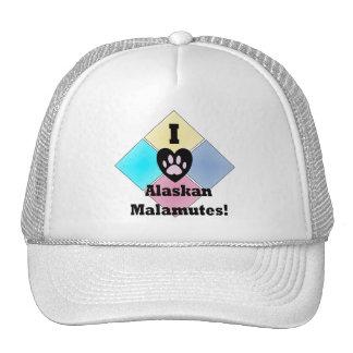 I Love Alaskan Malamutes Hats