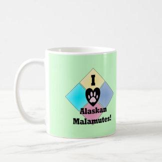 I Love Alaskan Malamutes Coffee Mug