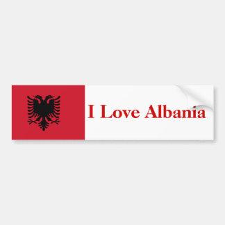 I Love Albania Bumper Bumper Sticker