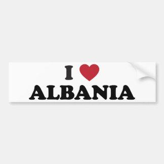 I Love Albania Bumper Sticker