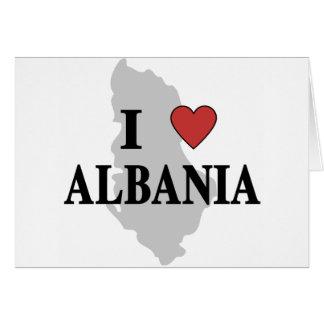 I Love Albania Card
