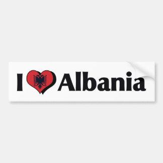 I Love Albania Flag Bumper Sticker