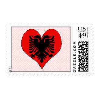 I Love Albania Stamp