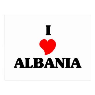 I Love Albania Postcard
