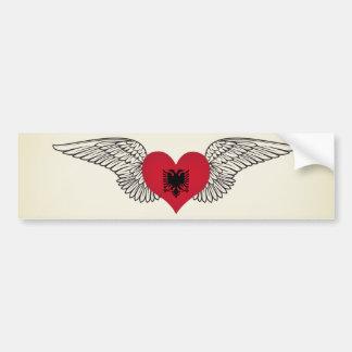 I Love Albania -wings Bumper Sticker