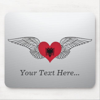 I Love Albania -wings Mouse Pads